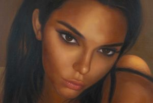 Detail from painting called Kendall With Candle